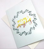 Christmas Cards by @twofisheslettering