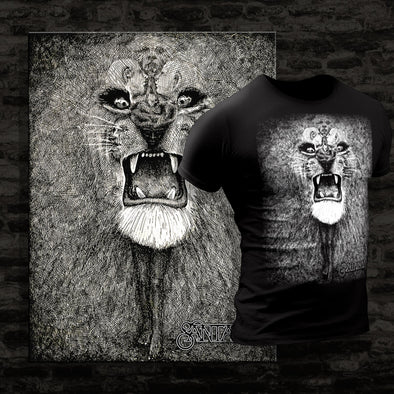 Lion - Canvas Wall Art With Custom Tee