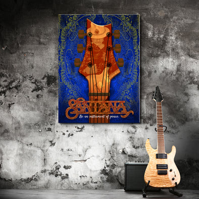 Instrument Of Peace - Blue - Canvas Wall Art 1 Panel (Vertical)