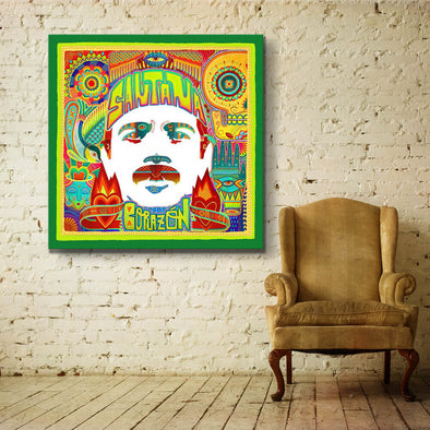 Santana Corazón - Canvas Wall Art - Square
