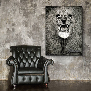 Lion - Canvas Wall Art 1 Panel