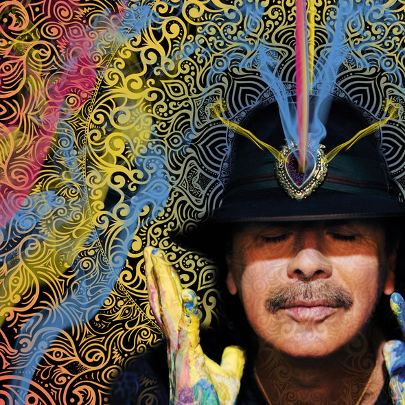 Carlos Santana Power of the Mind canvas wall art close-up