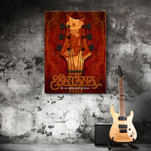 Instrument Of Peace - Red - Canvas Wall Art 1 Panel (Vertical)