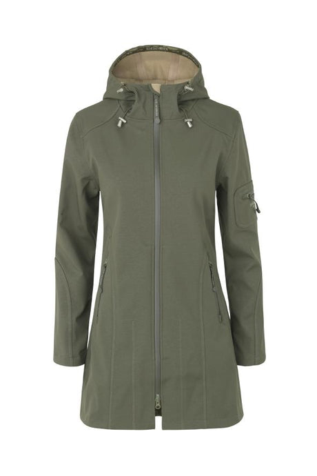 Ilse Jacobsen Army Green Rain 7b Soft Shell Raincoat