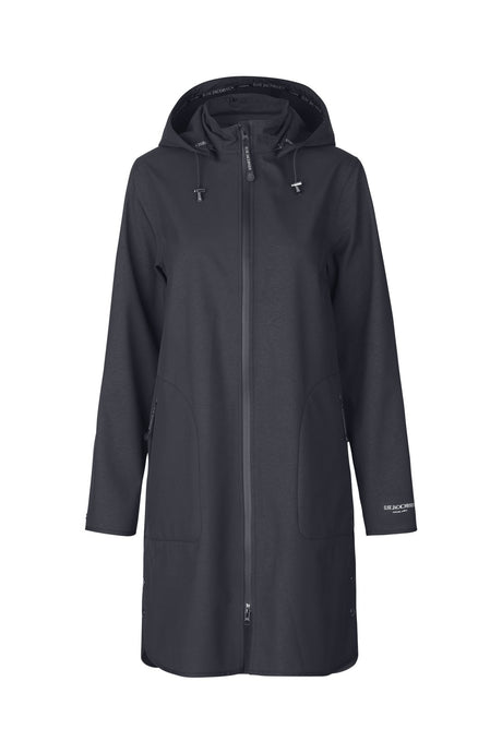 Ilse Jacobsen Navy Rain 128 Soft Shell Raincoat