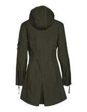 Load image into Gallery viewer, Ilse Jacobsen Army Green Rain 7 Soft Shell Raincoat