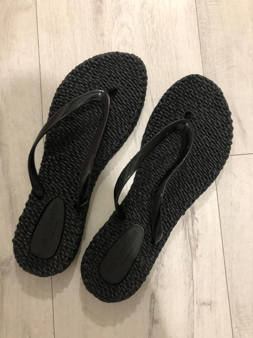 Ilse Jacobsen Black Plain Flip Flop