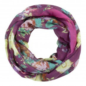 Codello Berry Coloured Flower Snood