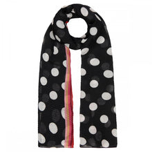 Load image into Gallery viewer, Codello Black Polka Dot Scarf