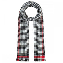 Load image into Gallery viewer, Codello Black and White Dogtooth Scarf