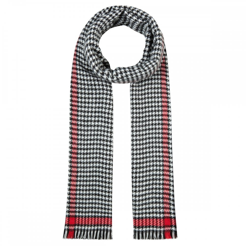 Codello Black and White Dogtooth Scarf