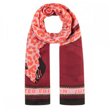 Load image into Gallery viewer, Codello Plum Leopard Scarf