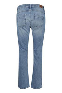 Denim Hunter Mid Wash 7/8 Straight Leg Jean