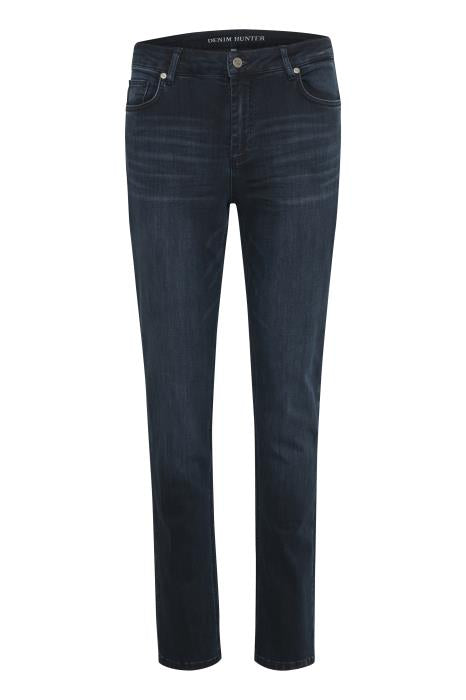 Denim Hunter Dark Blue Wash Straight Leg Jean