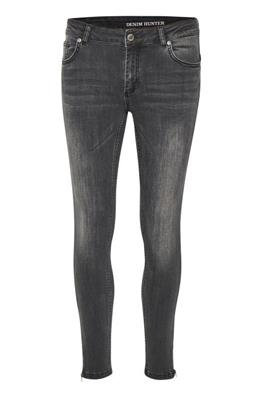 Denim Hunter Grey Wash Skinny Jean With Zip Detail