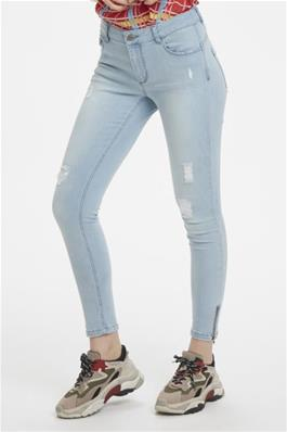 Denim Hunter Light Wash Skinny Jean With Zip