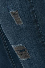 Load image into Gallery viewer, Denim Hunter Blue Skinny Jean with Torn Detail