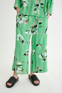 Inwear Green Flower Print Trouser