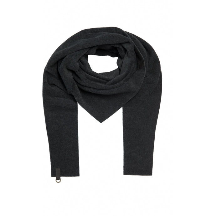 Henriette Steffensen Soft Black Fleece Triangle Scarf