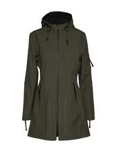 Ilse Jacobsen Army Green Rain 7 Soft Shell Raincoat