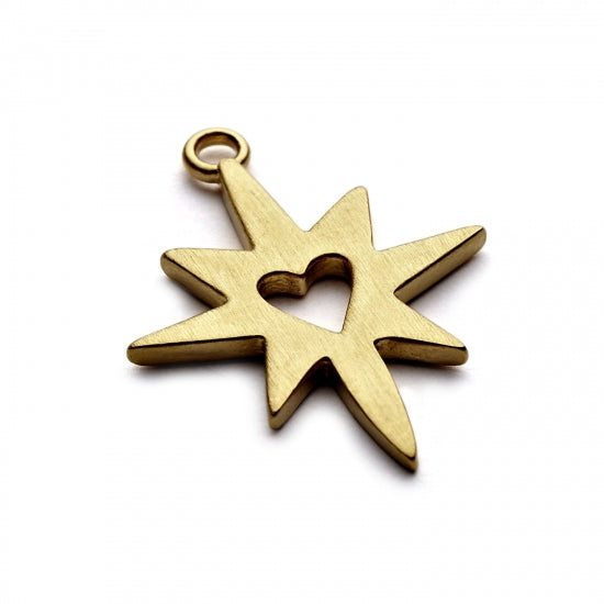 Chambers and Beau Gold Starburst Charm