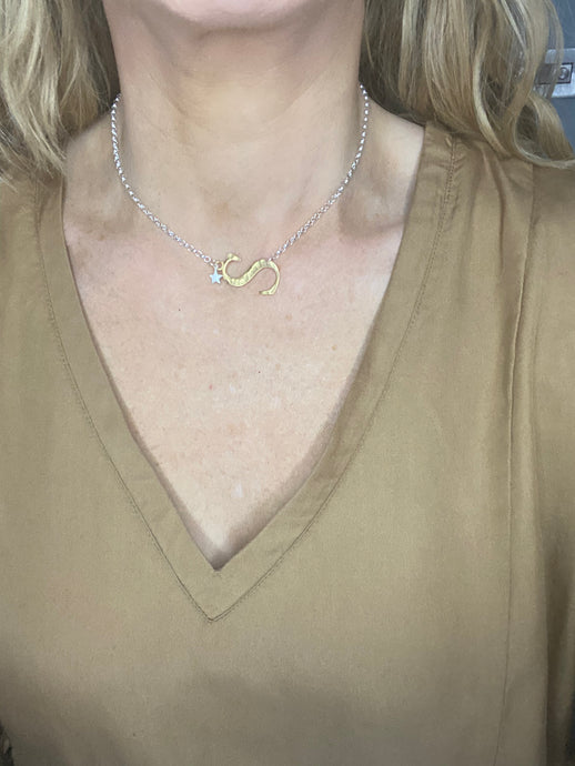 PREORDER Chambers and Beau Oversized Initial Necklace