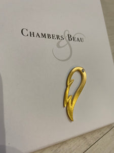 Chambers and Beau Gold Wing Charm