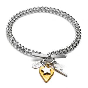 Chambers and Beau Silver Love, Strength, Light Bracelet