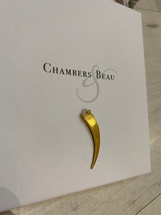 Chambers and Beau Gold Tusk Charm
