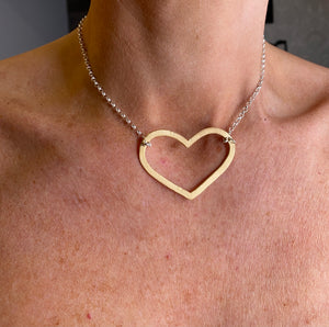 Chambers and Beau Mega Heart Necklace