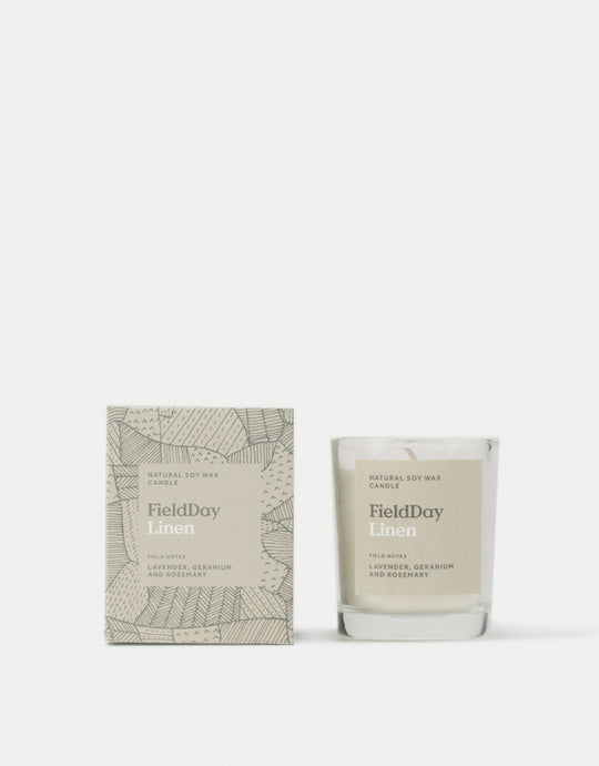Field Day Small Linen Candle