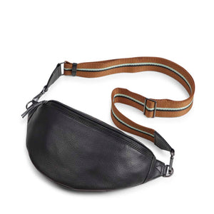 Markberg Black Leather Elinor Bum Bag
