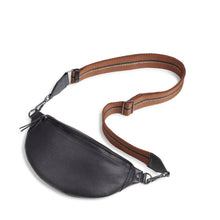 Load image into Gallery viewer, Markberg Black Leather Izzy Bumbag