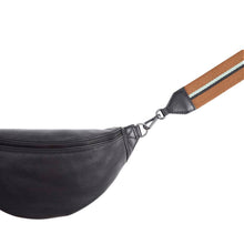 Load image into Gallery viewer, Markberg Black Leather Elinor Bum Bag