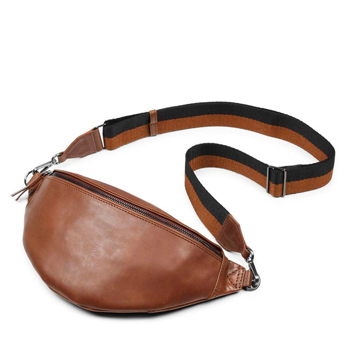 Markberg Chestnut Leather Elinor Bum Bag