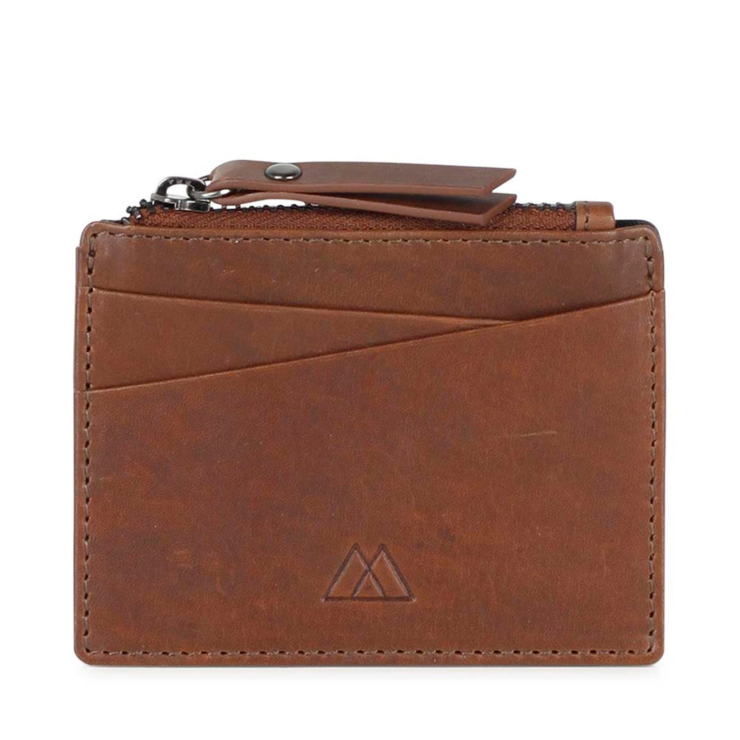 Markberg Chestnut Frey Zip Card Holder