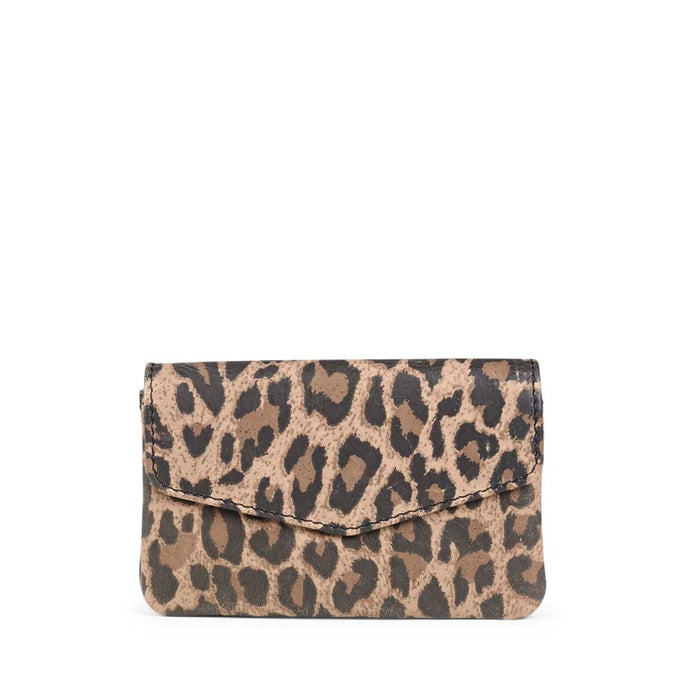 Markberg Leopard Print Leather Faith Coin Purse