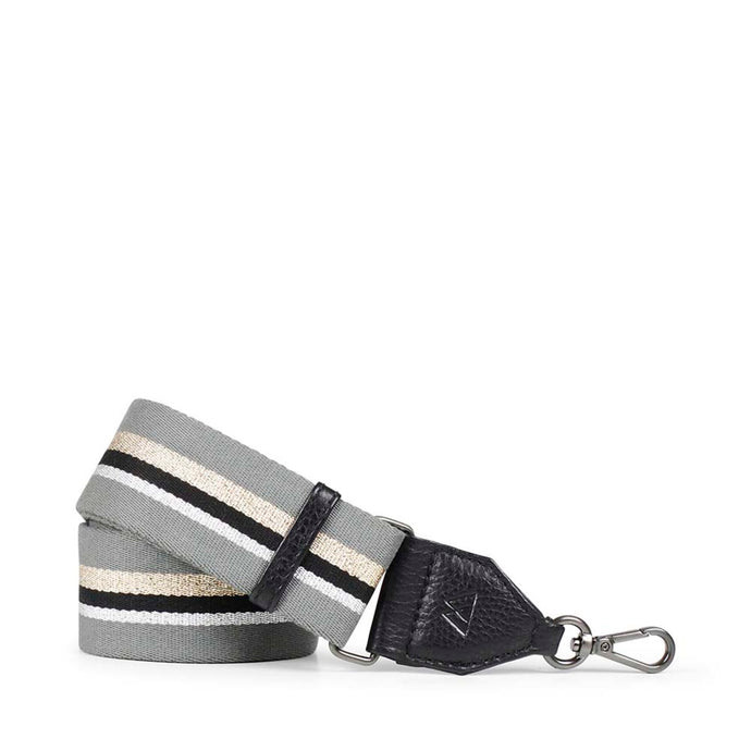 Markberg Grey, Black and Metallic Stripe Finlay Guitar Strap