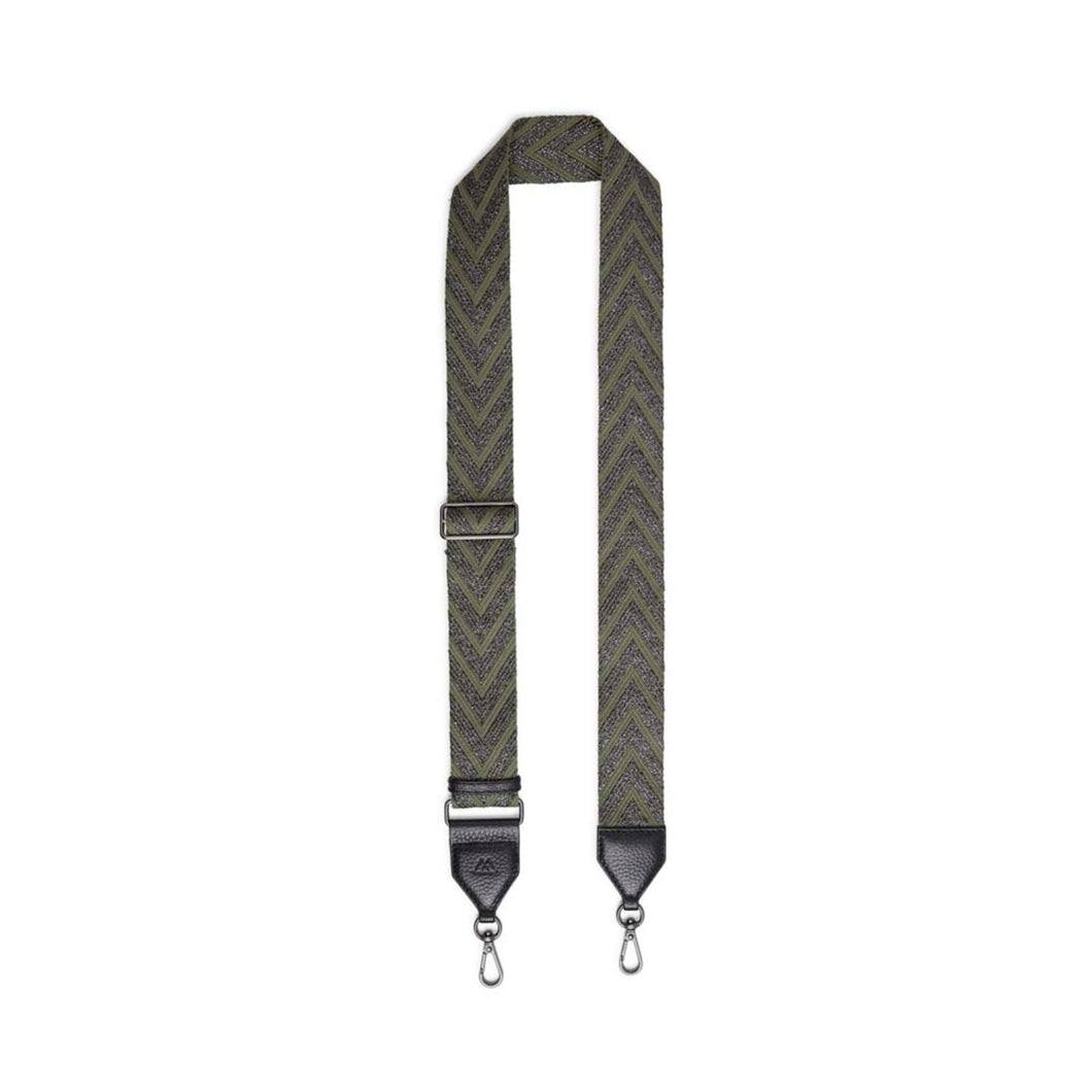 Markberg Olive and Gunmetal Maisey Guitar Strap