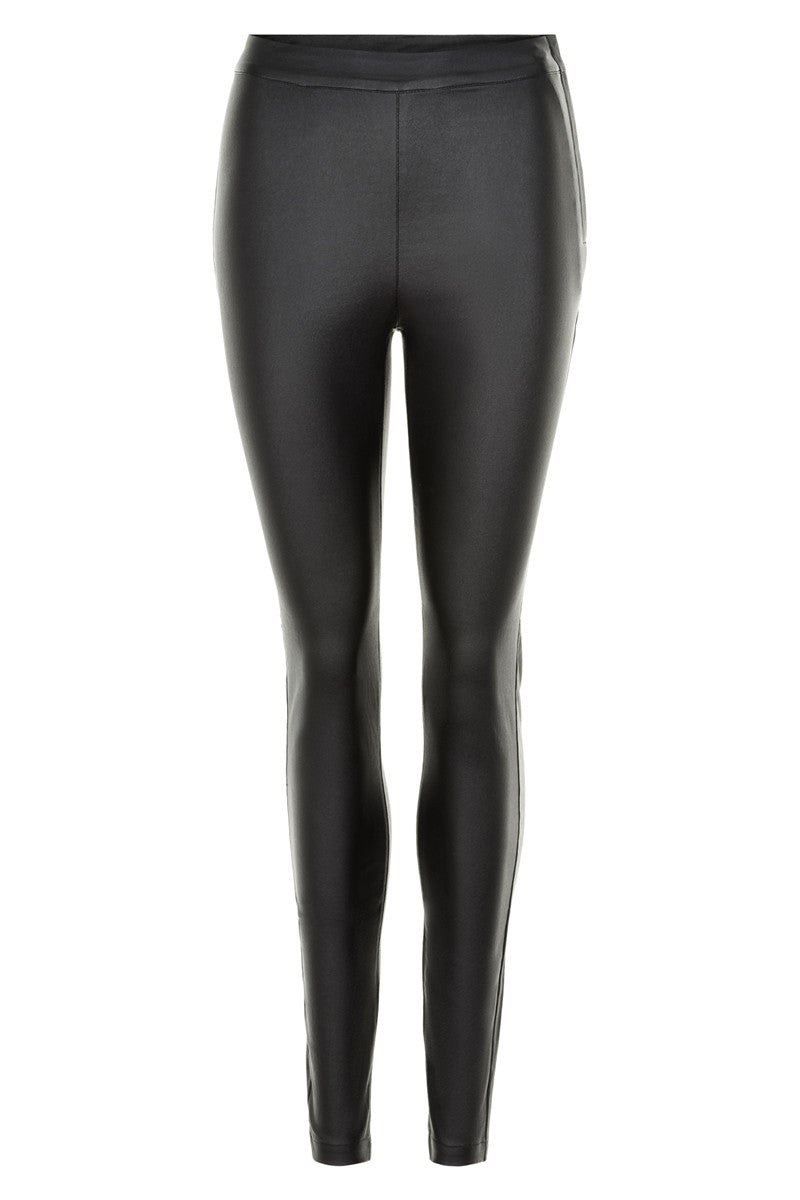 Numph Black Leather Look Legging