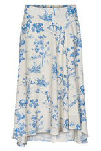 Load image into Gallery viewer, Numph Blue and White Printed Skirt