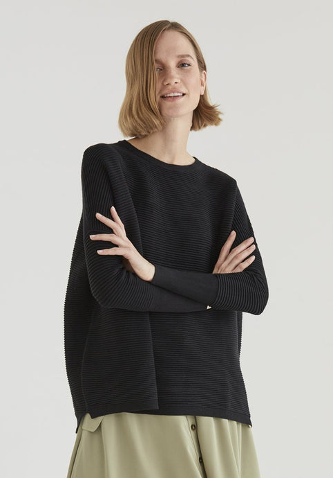 PREORDER Paisie Black Cape Jumper