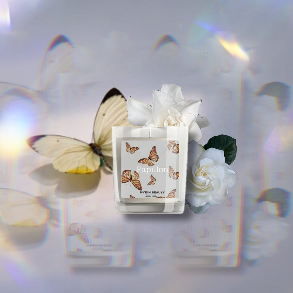 papillon candle collection mykin beauty