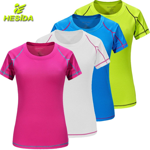 a0feab014 T-Shirt Women Quick Dry Breathable Sports Top Yoga Gym Fitness Clothing  Sportswear For Women's ...