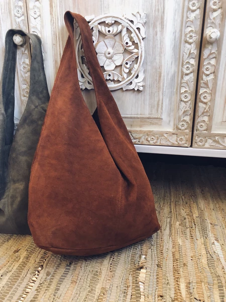 Women's Bags Brown Vintage Suede Solid Accessories