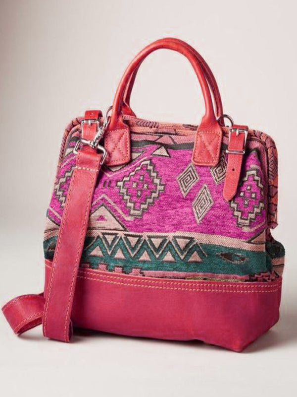 Women PU Boho Retro Casual Shoulder Bag