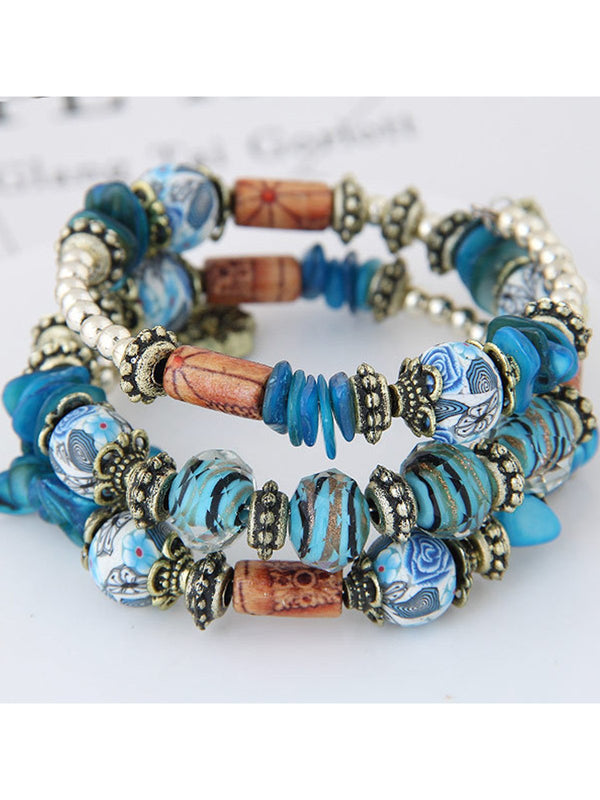 Women Bohemian Bracelet Ethnic Style Beaded Accessories