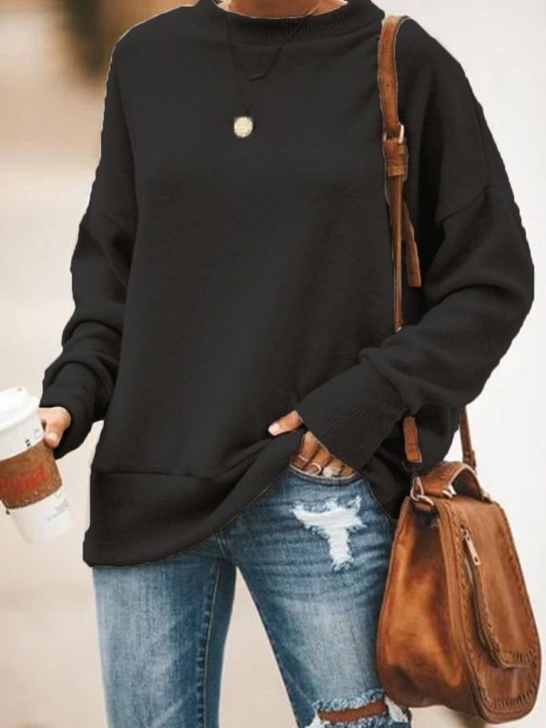 Women Tops Solid Color Cotton-Blend Long Sleeve Casual Outerwear