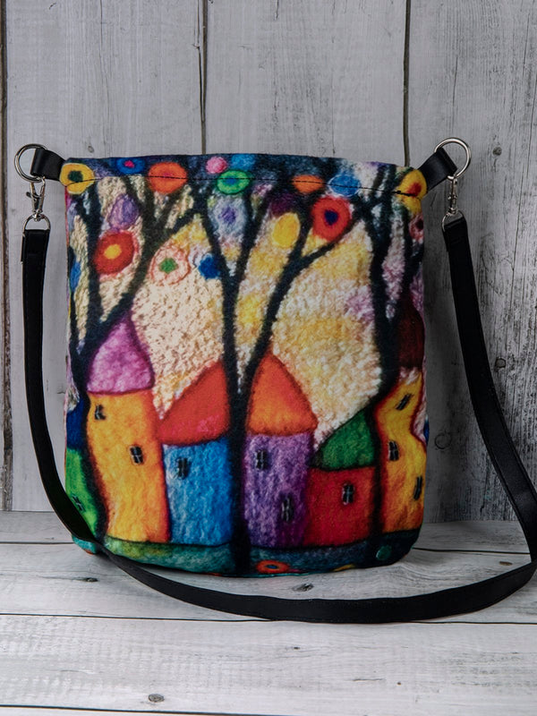 Women Casual Hit Color Abstract Pattern Fashion Bag