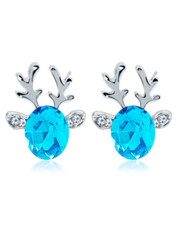 Women Cute Earrings Christmas Elk Accessories
